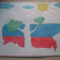 Фотоотчёт о детском творчестве ко Дню России. Лучшие детские работы