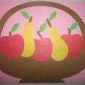 Мастер-класс по аппликации «Корзина с фруктами из цветной бумаги»
