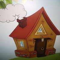 Конспект игрового занятия «Стоит домик» для детей младшего возраста