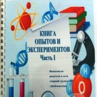 «Книга опытов и экспериментов» (совместная работа с детьми и их родителями)