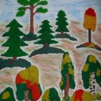 Занятие по рисованию с использованием коктейльных трубочек «Лес точно терем расписной»