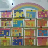 Аппликация «Дома нашего города»