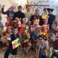 Осенний праздник по мотивам сказки В. Сутеева «Мешок яблок» для детей 3–6 лет