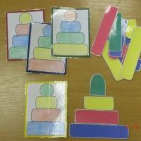 Дидактические игры для детей 2–4 лет «Собери пирамидку», «Разноцветные грибочки», «Туфелька»