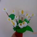 Мастер-класс «Цветы к 8 марта» с детьми старшей группы