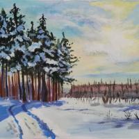 Мастер-класс по рисованию «Зимний пейзаж»