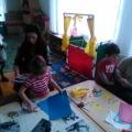 Изготовление стенгазеты, к Дню Победы, с участием мам