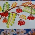 Мастер-класс по рисованию в нетрадиционной технике «Ветка рябины осенью»
