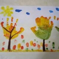 Мастер-класс с использованием нетрадиционной техники рисования «Осенние деревья»