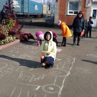 Фестиваль рисунка на асфальте «Юные таланты за безопасность»— фотоотчет
