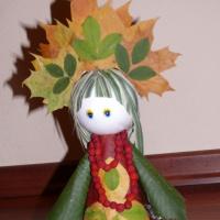 Мастер-класс по созданию поделки из природного материала «Осенняя красавица»