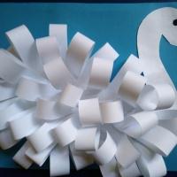 Детский мастер-класс «Лебедь» из бумажных полосок