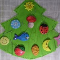 Игрушки на елку из солёного теста