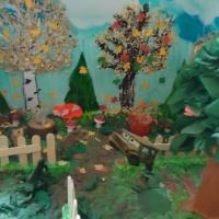 Макет с использованием природного материала «Осень в парке Победы»