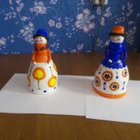 Дымковская барышня своими руками из бутылки и пластилина