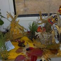 Осенняя поделка «Баба-Ёжка» из природных материалов