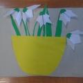 Детский мастер-класс по аппликации с элементами оригами «Подснежники»