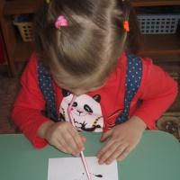 Фотоотчёт о занятии по рисованию в технике кляксография «Зимний лес»