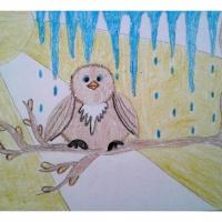 Мастер-класс по изобразительному искусству «Весенняя капель»