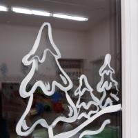 Роспись окон «Зимняя сказка»