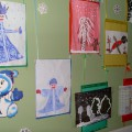 Фотоотчет выставки детских рисунков «Зимушка-Зима»