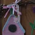 Весенний декор с птичками и цветами