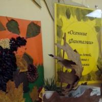 Фотоотчёт о выставке поделок детского и семейного творчества из природных материалов «Осенние фантазии»
