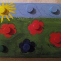 Дидактическая игра своими руками по сенсорному развитию для детей раннего возраста «Веселая полянка»