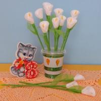 Мастер-класс по изготовлению букета цветов из ватных дисков