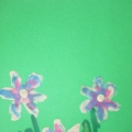 Весенние цветы в технике пластилинографии