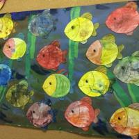 Коллективная деятельность в ГКП «Рыбки в озере»
