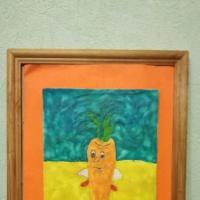 Фотоотчет по пластилиновой живописи «Дары Осени»