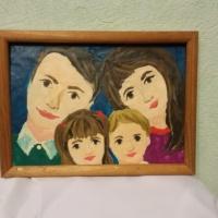 Фотоотчет о работах по пластилиновой живописи «Моя семья»