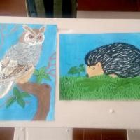 Фотоотчёт об участии учеников 4 класса в экологическом конкурсе «Зеленая планета глазами детей»