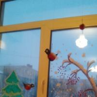 Фотоотчет «Мы помощники Зимы! Рисование на окнах». Старшая группа