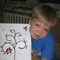 Нетрадиционные техники рисования с детьми подготовительной группы «Снегири прилетели»