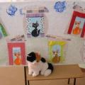 Конспект НОД по рисованию с детьми младшего возраста «В каждом окошке кошка». Техника рисования тычком сухой щетинной кисти