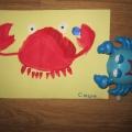 Нетрадиционные техники рисования для детей 3–4 лет «Краб»