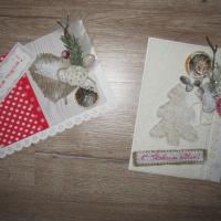 Новогодние открытки в стиле рустик своими руками