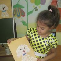 Нетрадиционные техники рисования с детьми старшего возраста «Пушистая болонка»