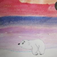 Нетрадиционные техники рисования с детьми младшего возраста «Северное сияние для Умки»