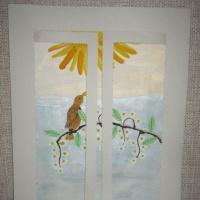 Мастер-класс «Работа над картиной «Распахни окно весне навстречу!» с использованием нетрадиционных техник рисования