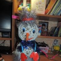 Мастер-класс «Снеговик из шерстяных ниток»