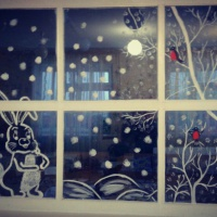 Оформление окон «Новогоднее настроение»