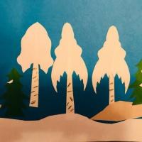 Аппликация «Деревья зимой» (старшая группа)