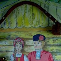 Мини-музей «Русская изба» на лестничной площадке