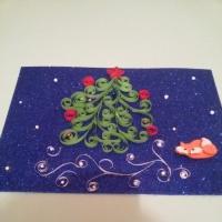 Мастер-класс «Новогодняя открытка в технике квиллинг» на тему: «В ожидании чуда…»