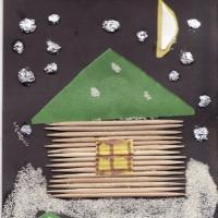 Конспект занятия по аппликации из нетрадиционных материалов для детей 5–6 лет «Зимняя ночь»