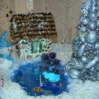 Поделка из природных и бросовых материалов «Зимний вечер»