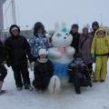Конкурс снеговиков в Нарьян-Маре. Наша зайка-фигуристка